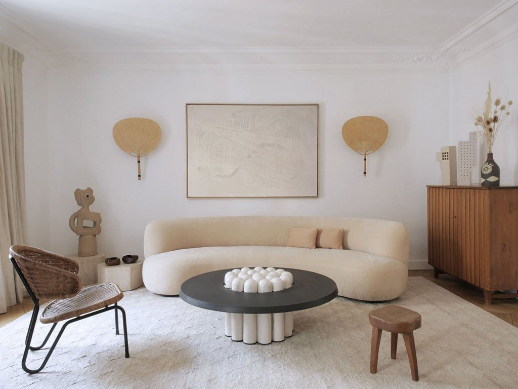 This breathtaking apartment is done contemporary and features fantastic art and furniture