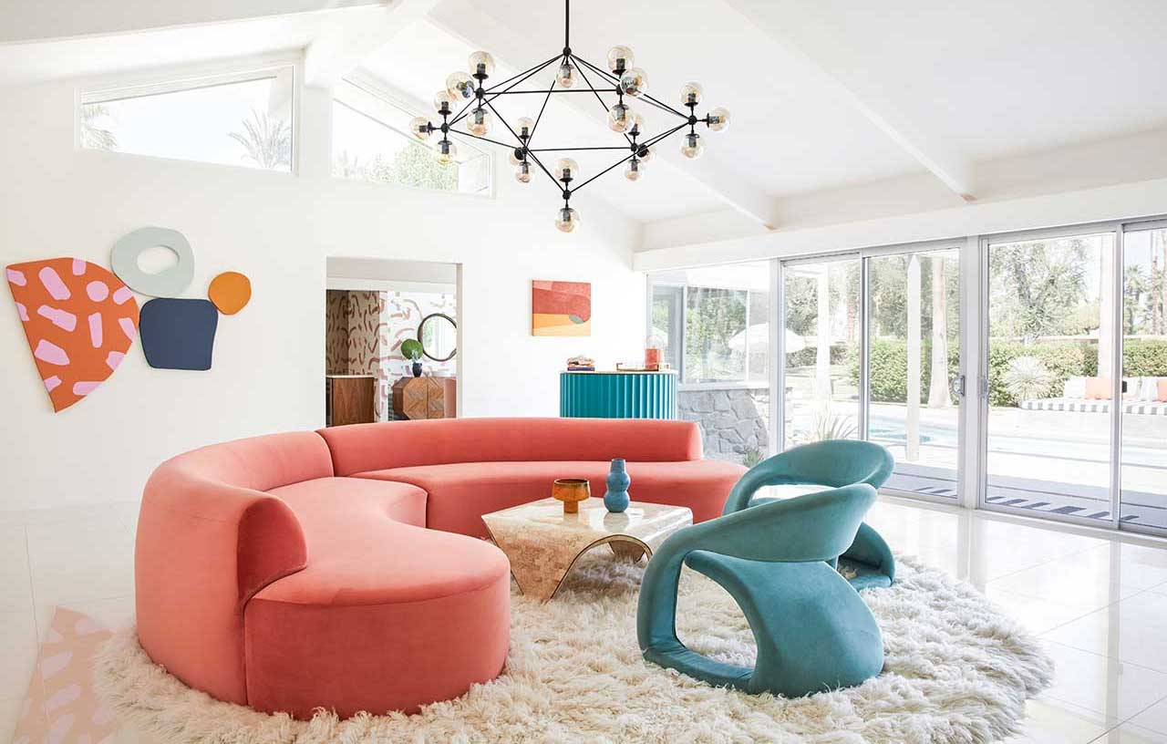Mid-Century Modern Home Transformed With Vibrant Colors