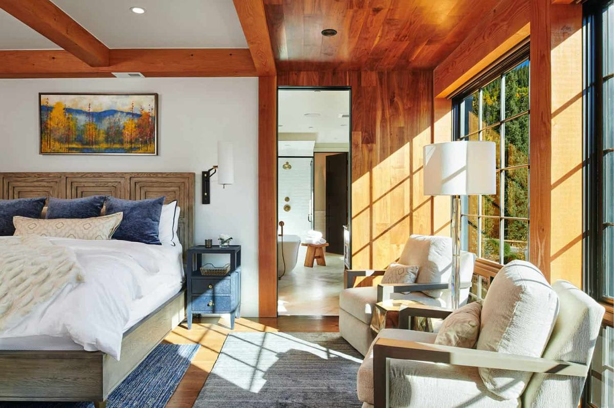 All the rooms including the upstairs areas are very spacious and have cozy nooks and seating areas built into them