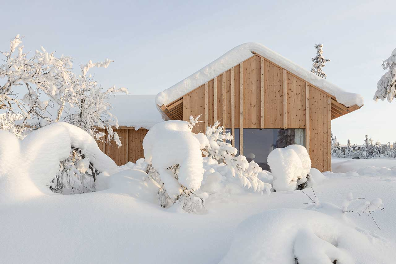 This contemporary wooden cabin is called Kvitfjell and is located in the mountains, which means amazing views