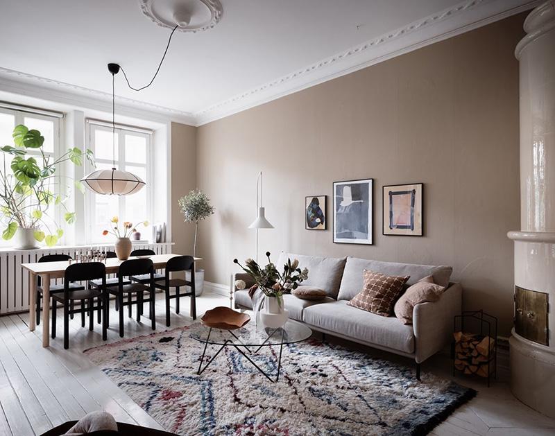 Cozy Scandinavian Apartment In Beige And Grey Tones