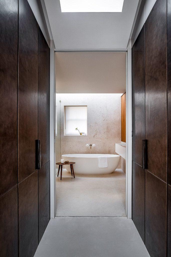 a calm bathroom design