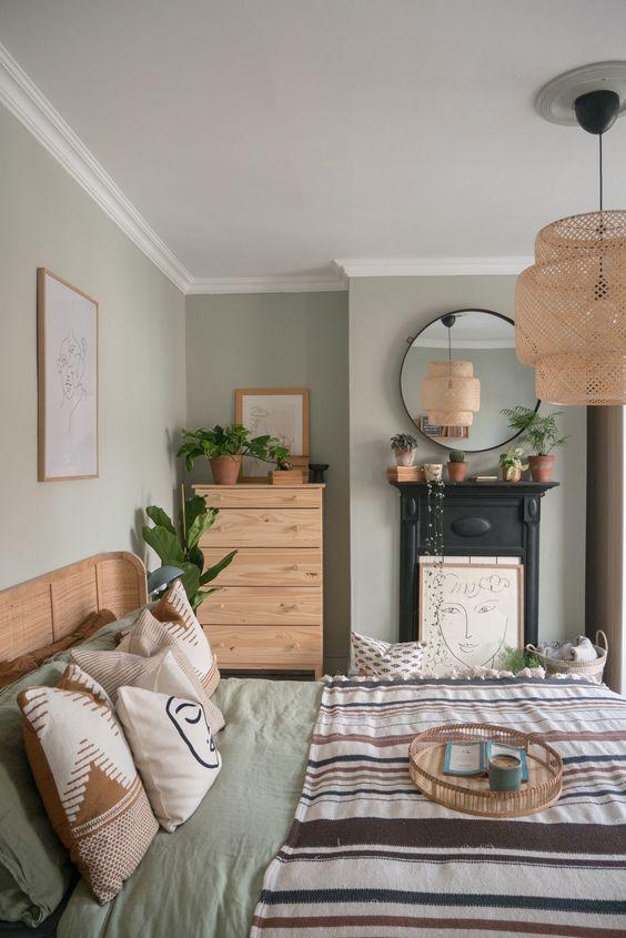 a chic boho bedroom design