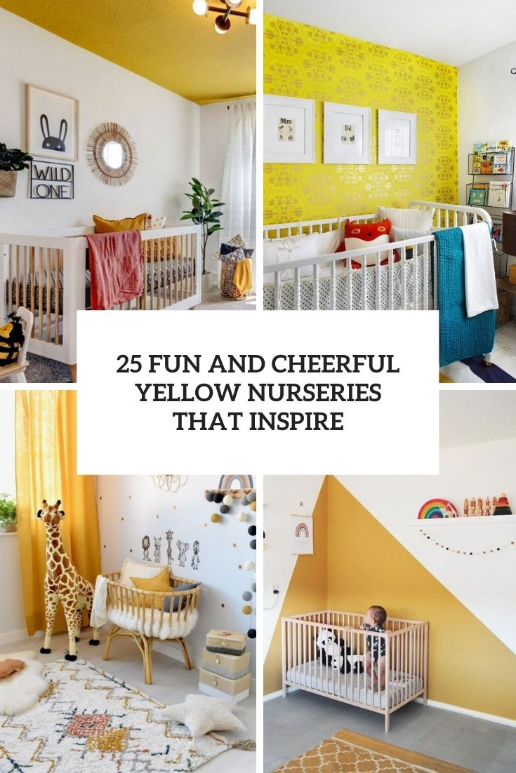 25 Fun And Cheerful Yellow Nurseries That Inspire