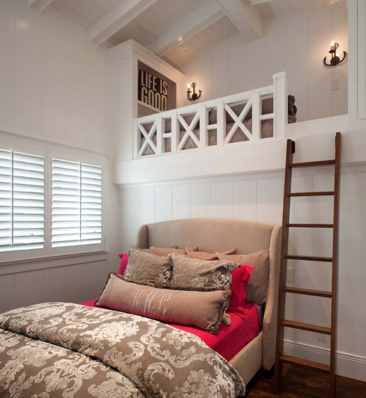 a loft storage space in the bedroom will give you a lot of storage space without taking your floor space
