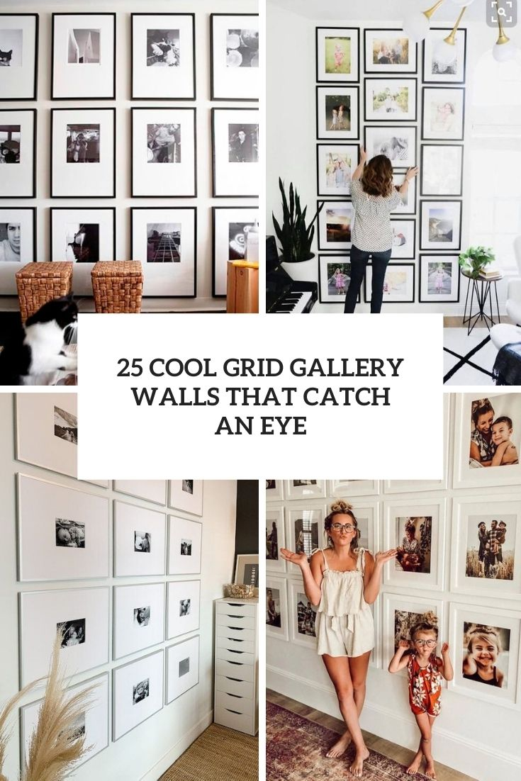 25 Cool Grid Gallery Walls That Catch An Eye
