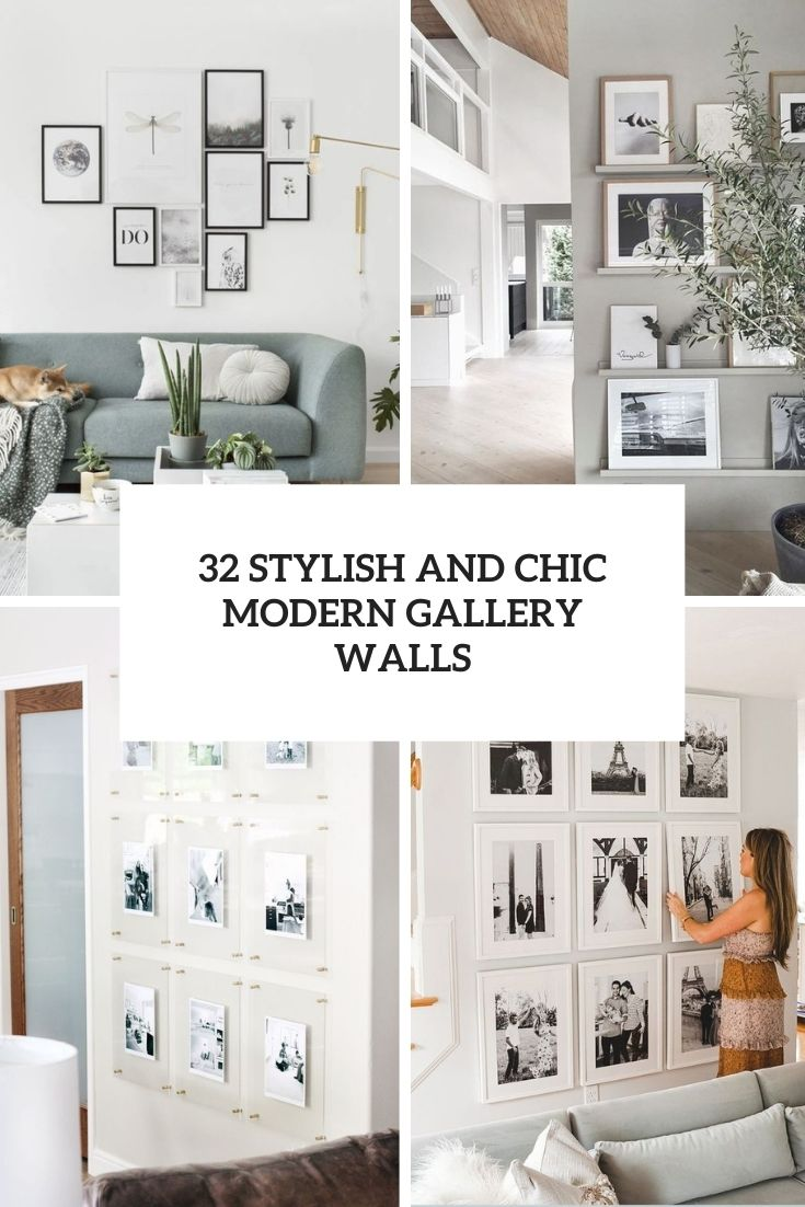 32 Stylish And Chic Modern Gallery Walls