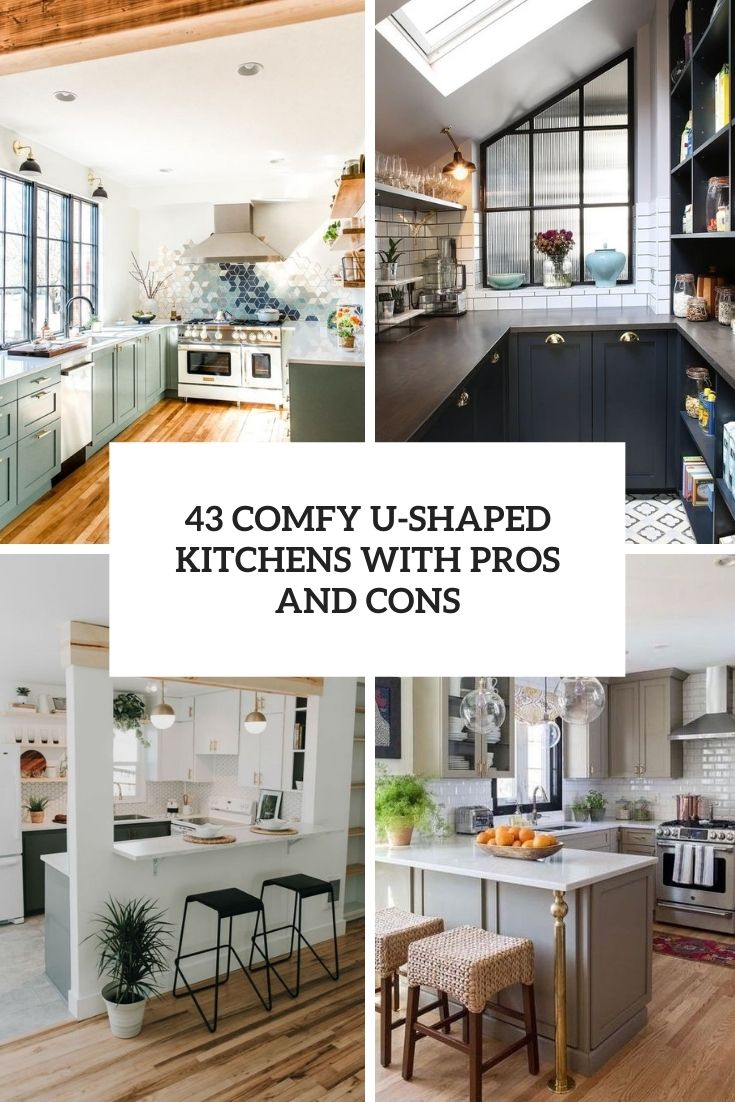 comfy u shaped kitchens with pros and cons cover