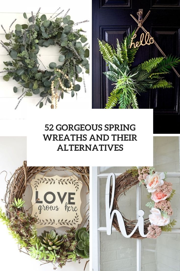 gorgeous spring wreaths and their alternatives cover