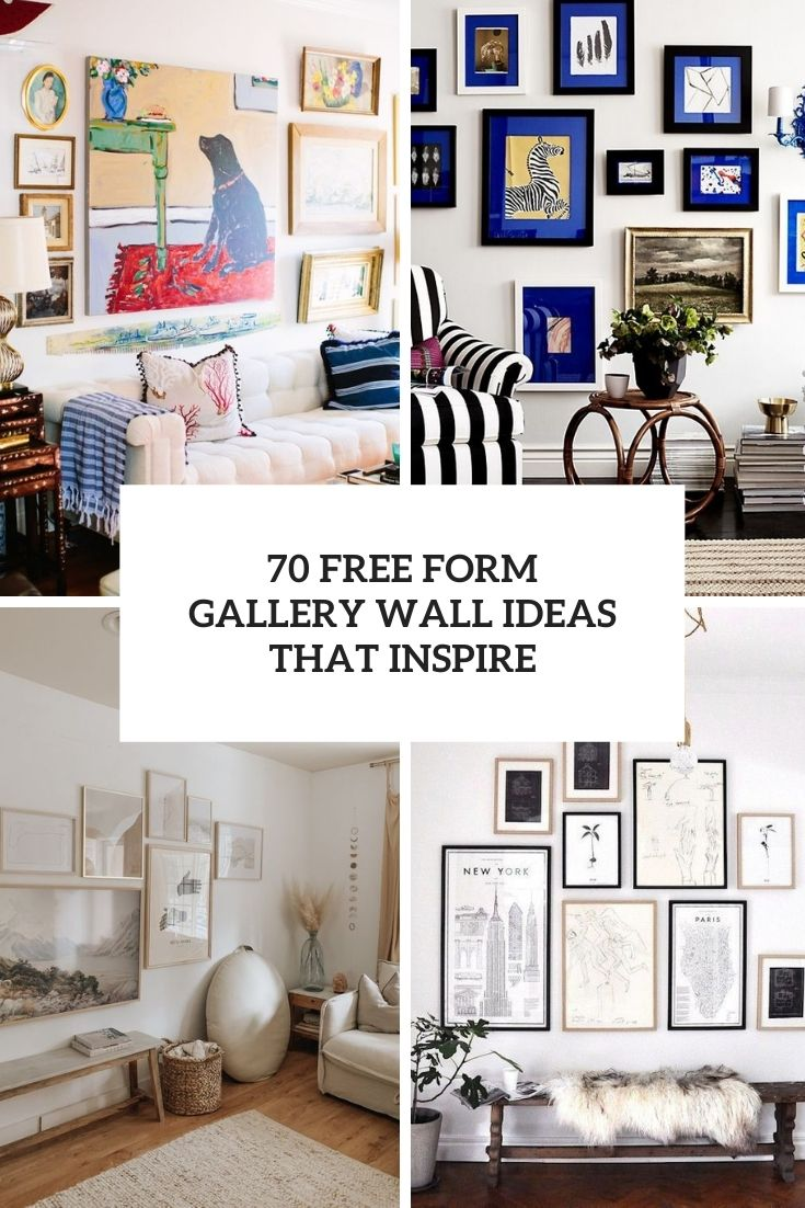 70 Free Form Gallery Wall Ideas That Inspire