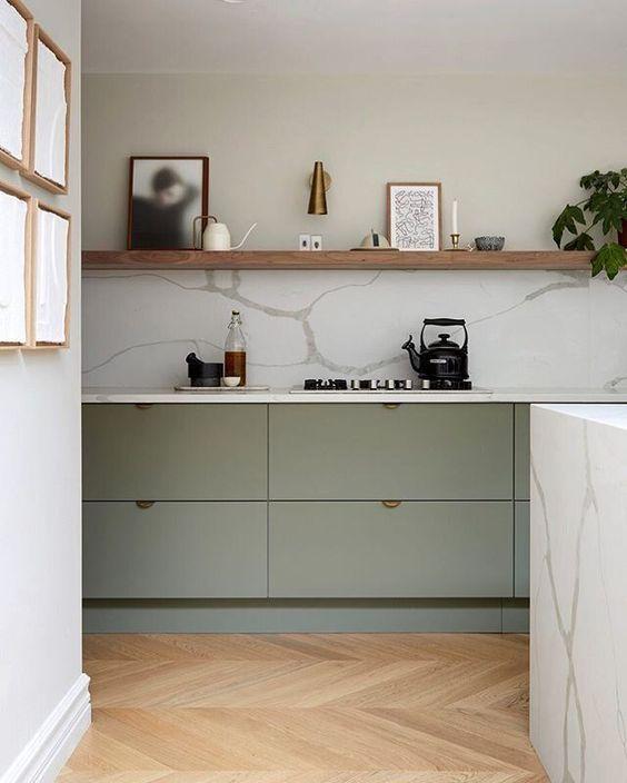 a cute ikea-like minimalist kitchen design