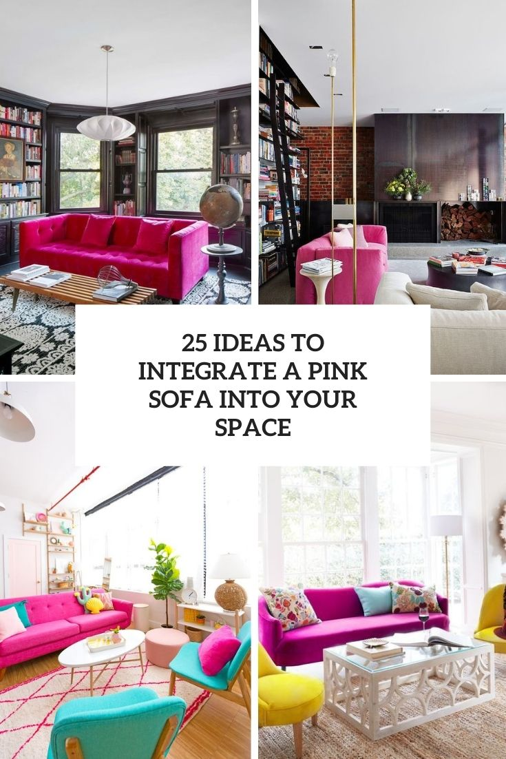 25 ideas to integrate a pink sofa into your space cover