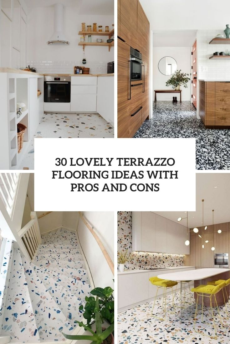 lovely terrazzo flooring ideas with pros and cons cover
