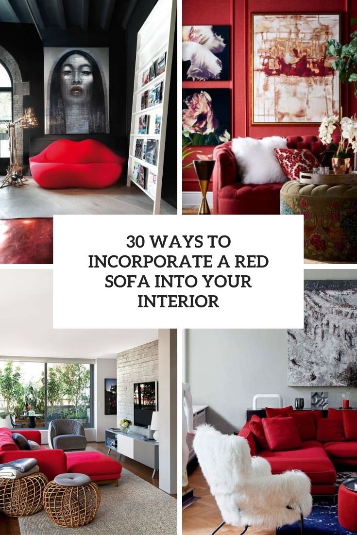 30 Ways To Incorporate A Red Sofa Into Your Interior