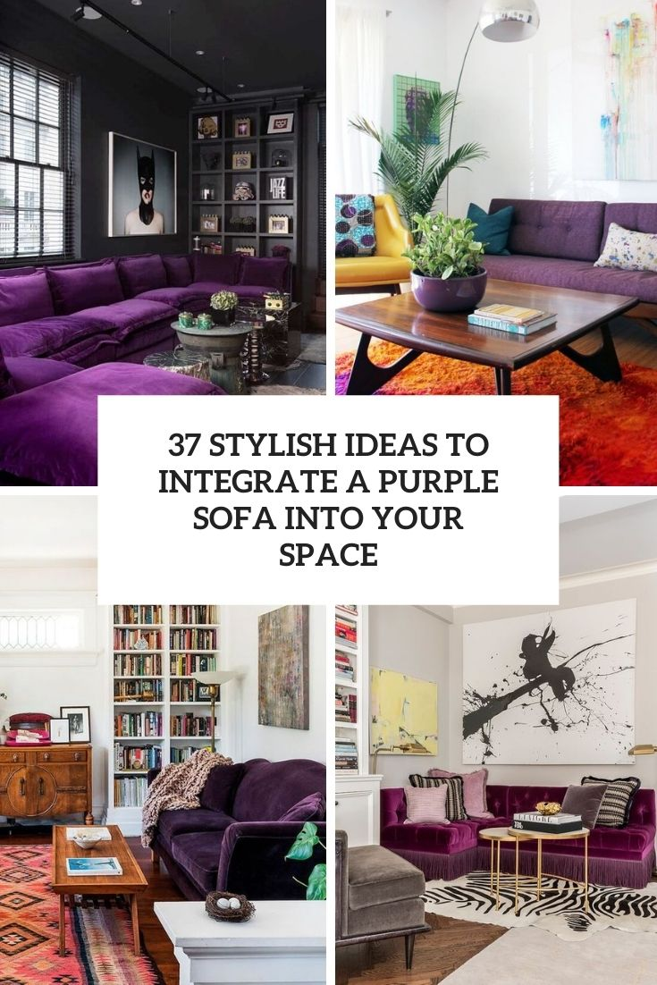 stylish ideas to integrate a purple sofa into your space cover