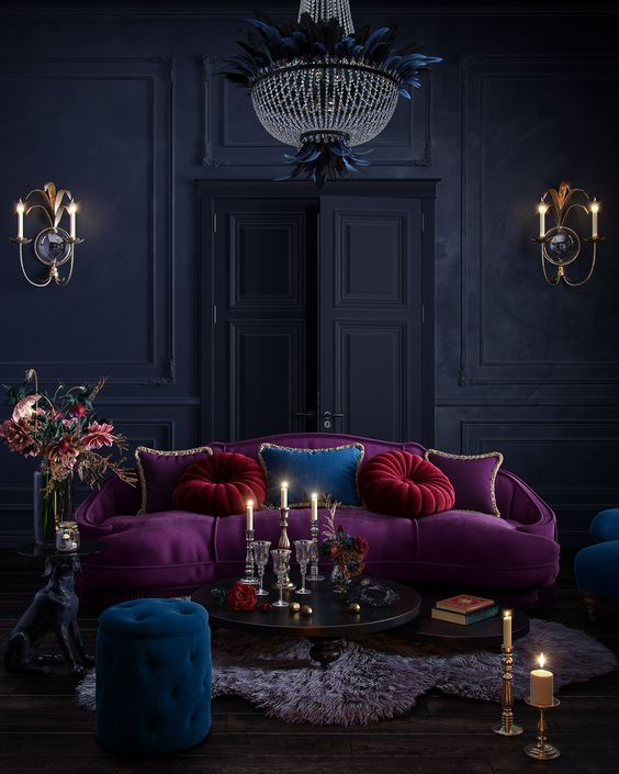 a moody living room design