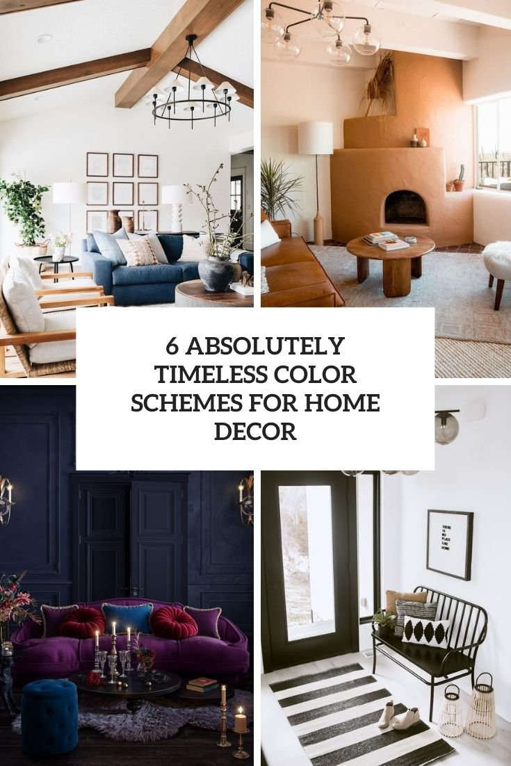 6 Absolutely Timeless Color Schemes For Home Decor