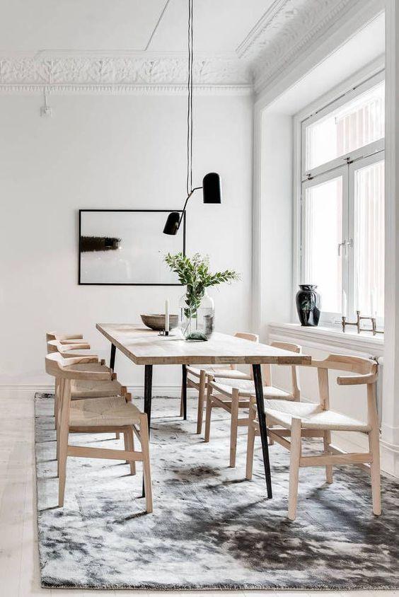 a cozy scandinavian dining space design