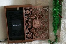 12 a chic carved wooden box to hide a wi-fi router is a stylish idea for many spaces and looks refined and cool