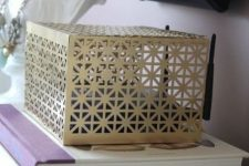 14 a laser cut metal box is a lovely idea to hide your wi-fi router and it looks nice, so it won't spoil your interior