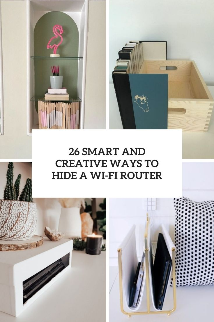 smart and creative ways to hide a wi fi router cover