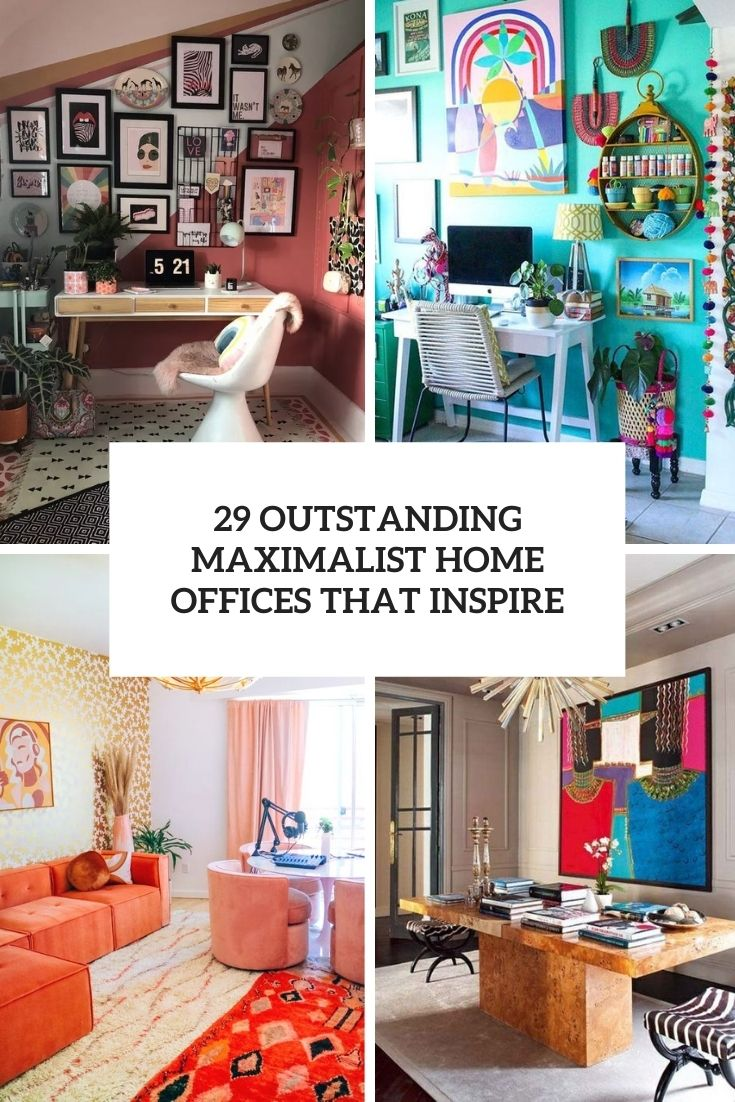 outstanding maximalist home offices that inspire cover