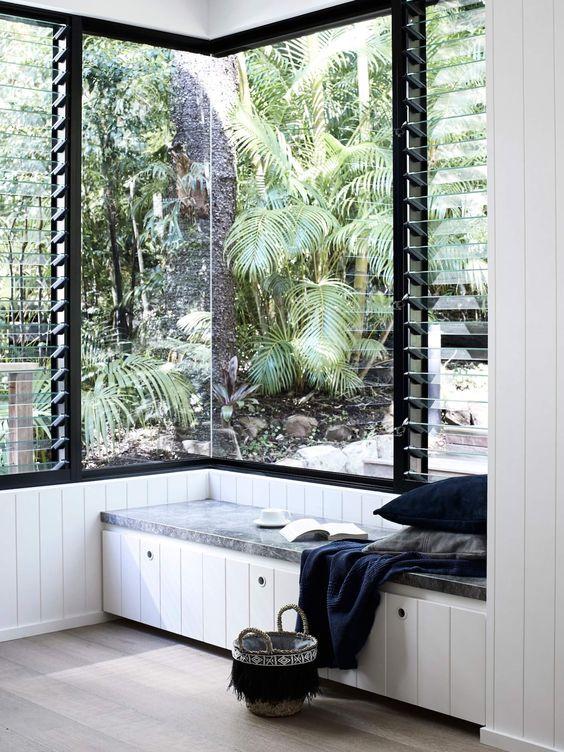 a cute corner space in Scandinavian style