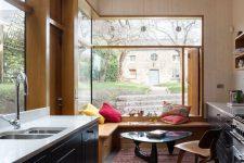 a stylish eat-in kitchen design