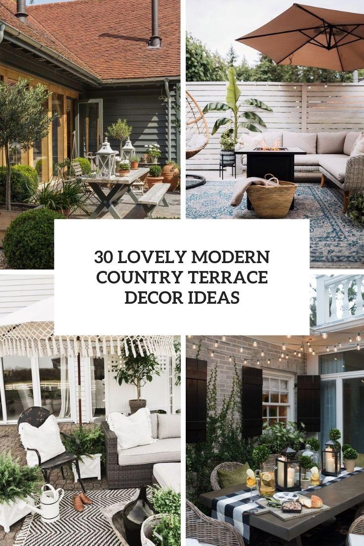 30 Lovely Modern Country Terrace Decor Ideas