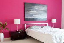 a pink bedroom design