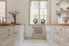a simple neutral kitchen design