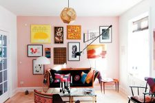 a free form gallery wall is a nice addition to any room