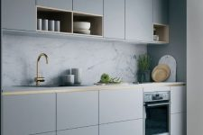 a stylish grey kitchen design