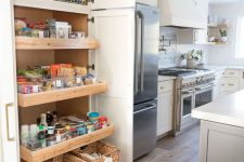 30 a mini pantry with drawers and doors is a lovely idea for those who don't have enough space for a large one