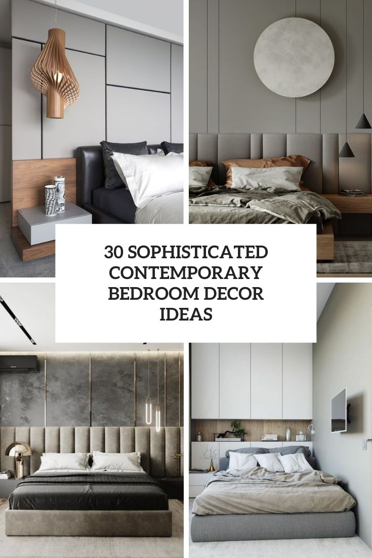 sophisticated contemporary bedroom decor ideas cover