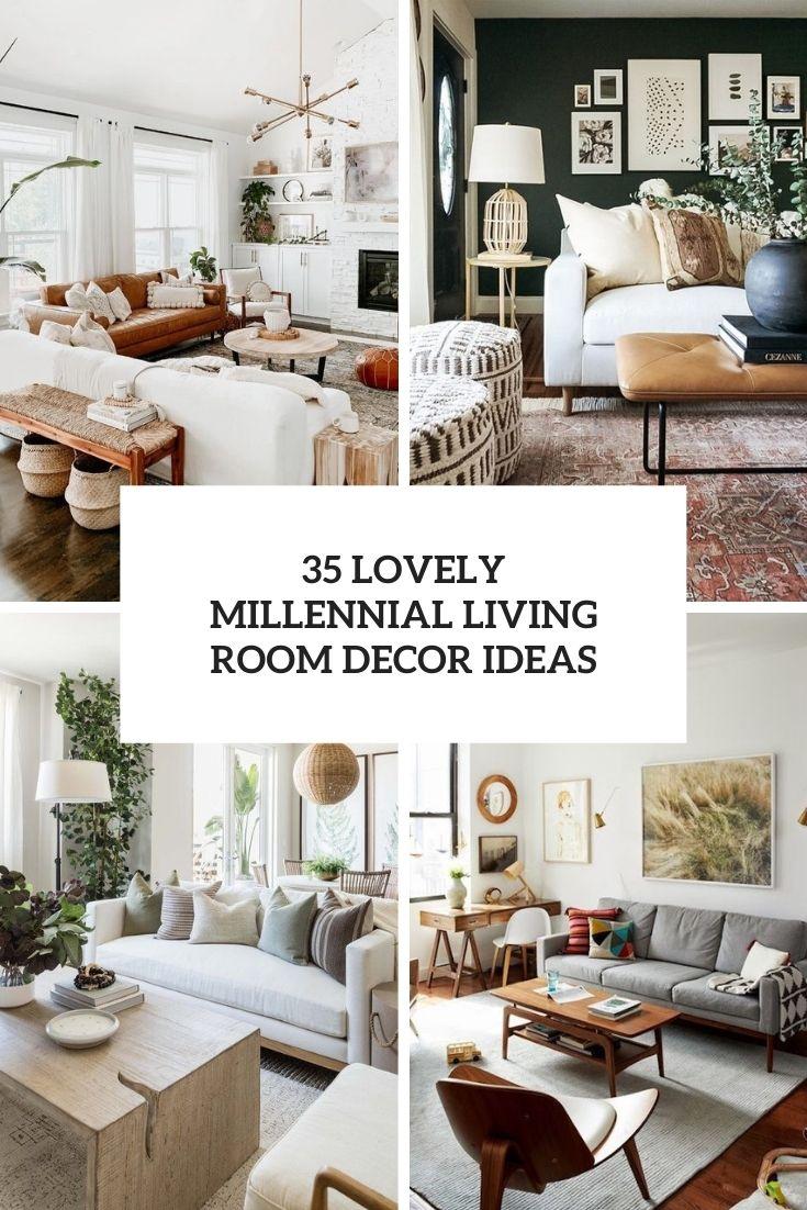 35 Lovely Millennial Living Room Decor Ideas