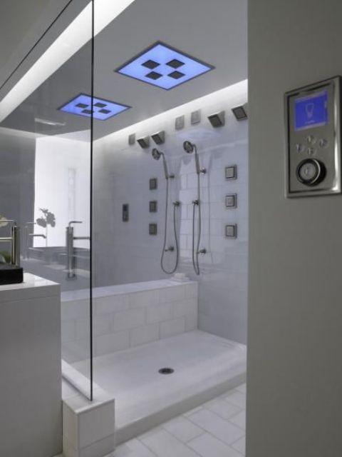 a high tech shower with a thermostat is a cool idea for a millennial bathroom as millennials love technology