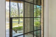 a cool french door for an entrance