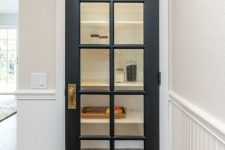 a stylish graphite grey French door to the pantry is a lovely idea to always see what's in and if you have everything you need