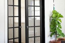 black interior French doors are adorable for any modern space, they will add a refined feel to the interior and provide light inside each space