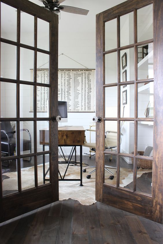 french doors could work in a farmhouse interior