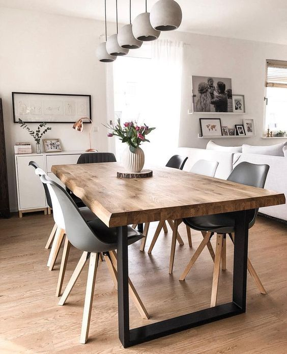 an unique living edge table makes any dining room stylish
