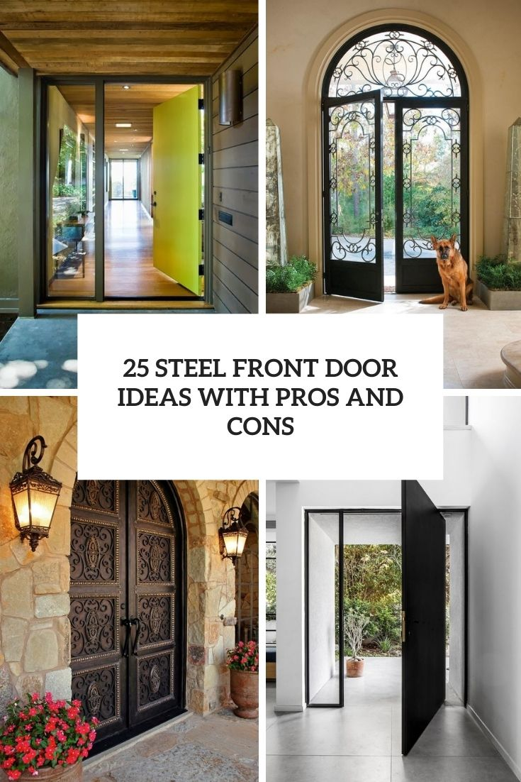 steel front door ideas with pros and cons cover
