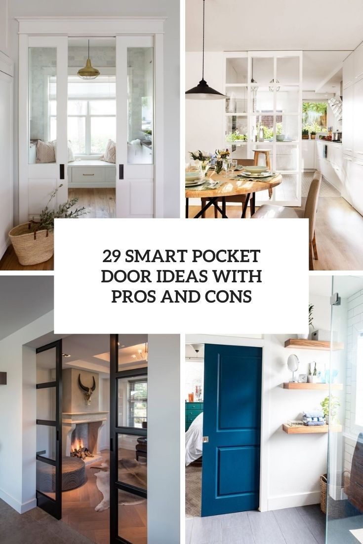 smart pocket door ideas with pros and cons cover