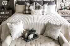 a stylish farmhouse bedroom design