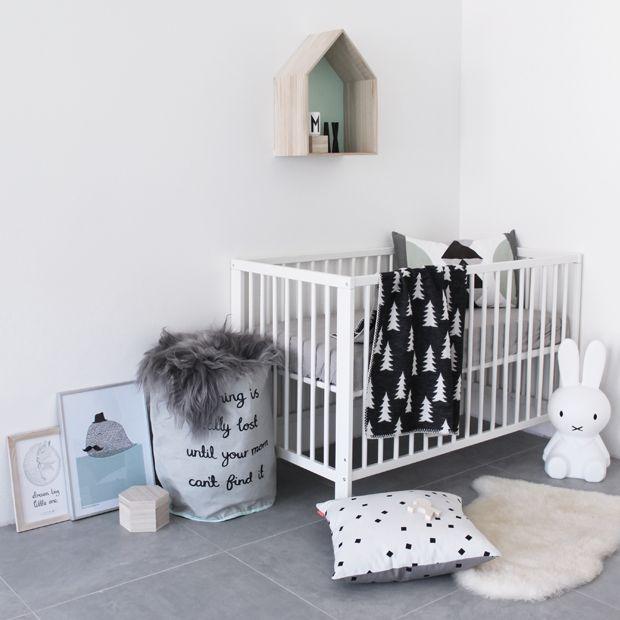 a stylish modern nursery design