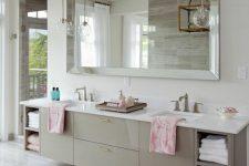 a spacious neutral bathroom design