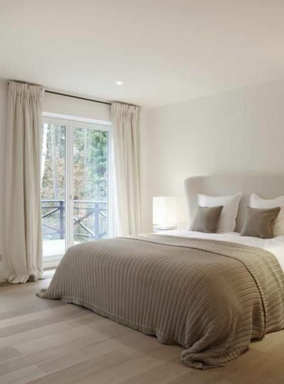 a stylish neutral bedroom design