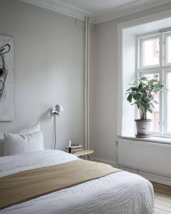 a simple modern neutral bedroom design