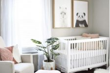 a contemporary nursery design with lovely pictures